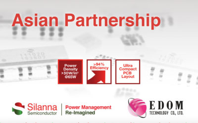 [ENG] Silanna Semiconductor Appoints Leading Asian Electronics Distributor EDOM Technology