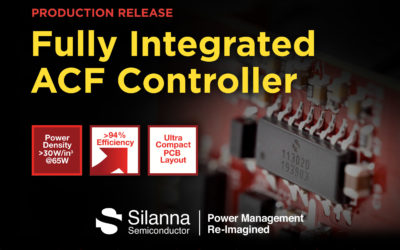Silanna Semiconductor Delivers on Groundbreaking Active Clamp Flyback Controller with Full Production Release