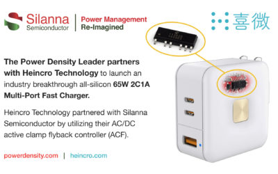 Silanna Semiconductor Powers the Highest Performance Fast Charging AC/DC Power Adapters